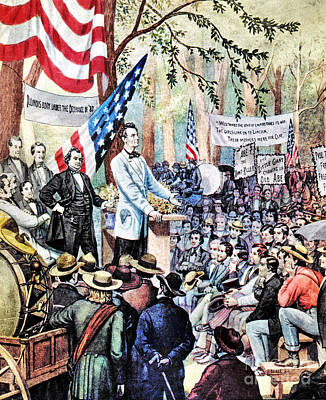 Lincoln-douglas Debate Art Print by Granger