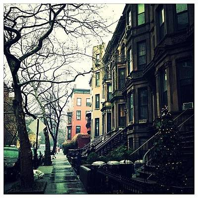 Rain Photograph - Lincoln Place (park Slope, Brooklyn) by Natasha Marco
