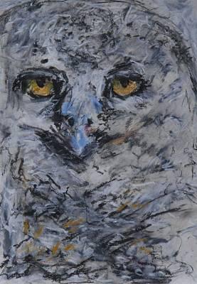 Lipstick Owl Original by Iris Gill