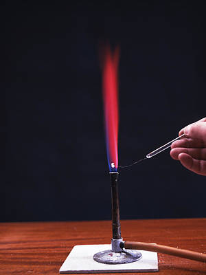 Lithium Flame Test Art Print by Andrew Lambert Photography