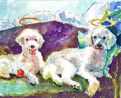 Little Angels Poodles Art Print by Marsden Burnell