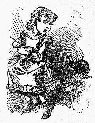 Little Miss Muffet Art Print by Granger