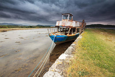 Photograph - Loch Etive Jetty Old Boat by Fiona Messenger