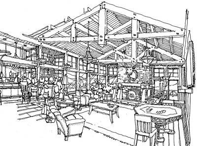 Lodge Art Print by Andrew Drozdowicz