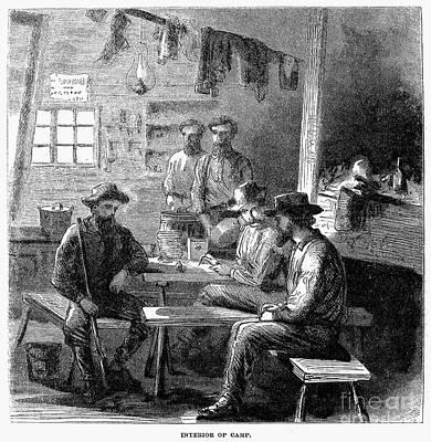 Loggers Camp, 1868 Art Print