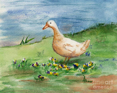 Painting - Lone Goose by Brenda Thour