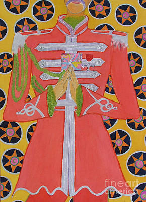 Sgt Pepper Beatles Painting - Lonely Hearts Club Member George by Barbara Nolan