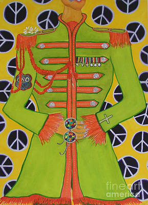 Sgt Pepper Painting - Lonely Hearts Club Member John by Barbara Nolan