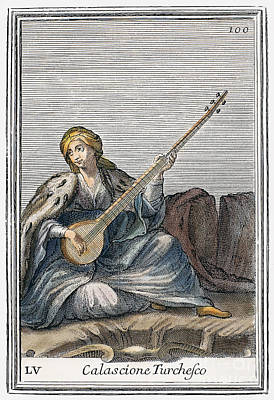 Long Lute, 1723 Art Print by Granger