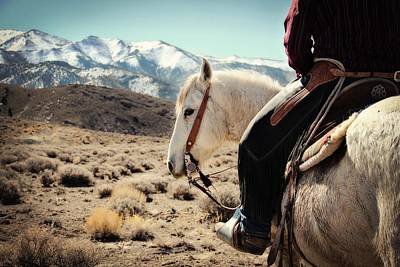 Cowboy Photograph - Looking Back by Megan Chambers