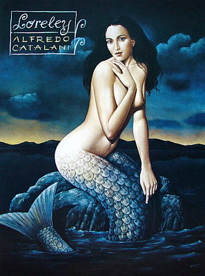Mixed Media - Loreley by Rafal Olbinski