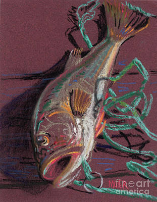 Largemouth Bass Painting - Louie's Catch by Donald Maier