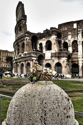 love locks in Rome Art Print by Joana Kruse