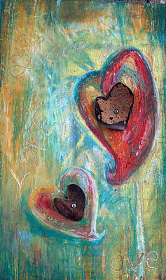 Mixed Media - Love by Racquel Morgan