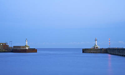 Summer Squall Photograph - Lowestoft Harbour Lights by Michael Stretton