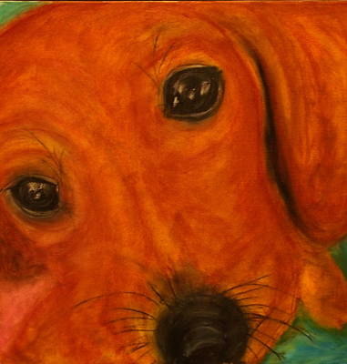 Painting - Lucy The Doxy by Laura  Grisham
