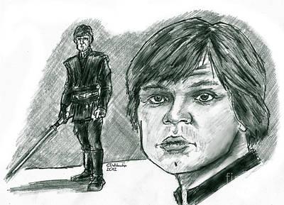 Drawing - Luke Skywalker Episode Vi by Chris  DelVecchio