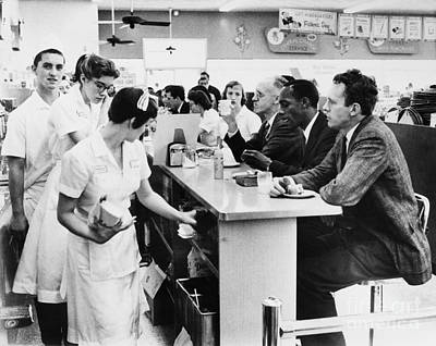 Lunch Counter Sit-in, 1960 Art Print
