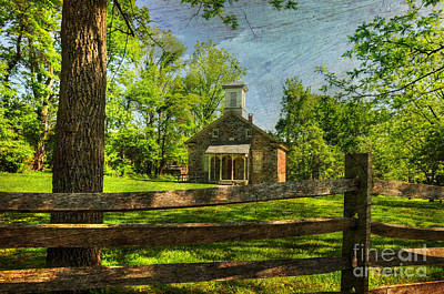 One Room School Houses Photograph - Lutz-franklin Schoolhouse by Paul Ward