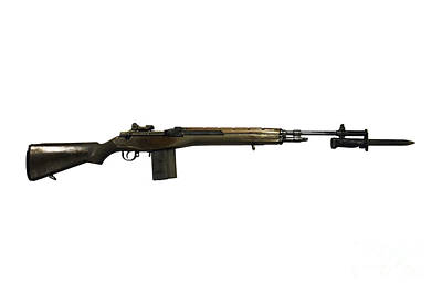 M14 Rifle, Developed From The M1 Garand Art Print by Andrew Chittock