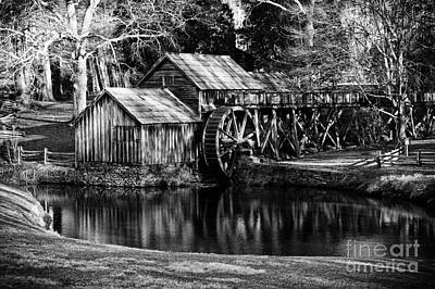 Art Print featuring the photograph Mabry Mill by Carrie Cranwill