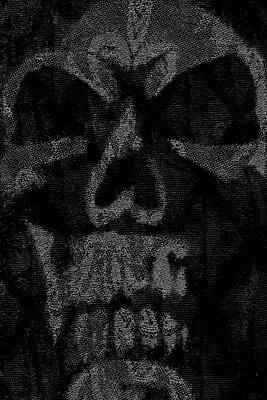 Macabre Skull Art Print by Roseanne Jones