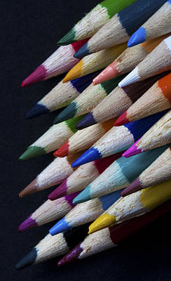 Photograph - Macro Of Colour Pencils by Zoe Ferrie