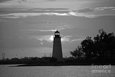 Art Print featuring the photograph Madisonville Lighthouse Sunset by Luana K Perez