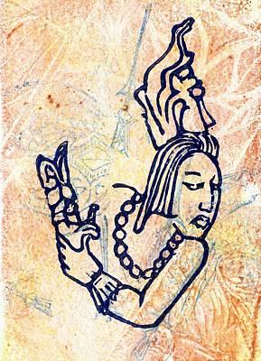 Fertility Symbols Painting - Maize God by Ingrid  Schmelter