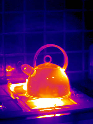 Making Tea, Thermogram Art Print by Tony Mcconnell