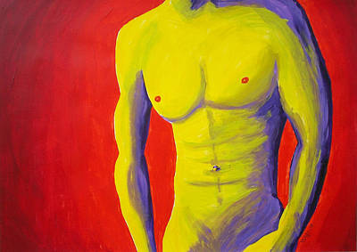 Male Nude Frontal Art Print by Randall Weidner