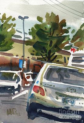Mall Parking Art Print by Donald Maier