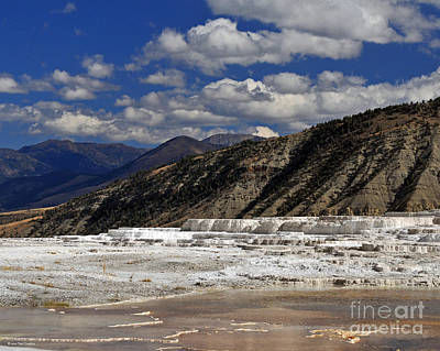 Photograph - Mammoth Hot Springs Geothermal Landscape by Schwartz Nature Images