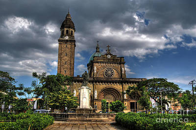 Photograph - Manila Cathedral by Yhun Suarez