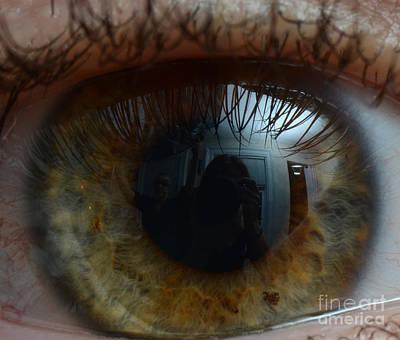 Photograph - Mans Eye by Photo Researchers Inc