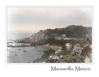 Digital Art - Manzanillo Mexico by Brandon Bourdages