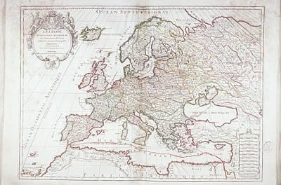Map Of Europe Art Print by Fototeca Storica Nazionale