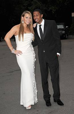 Diamond Earrings Photograph - Mariah Carey Wearing A Georges Chakra by Everett