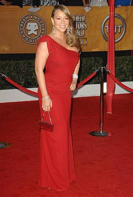 Mariah Photograph - Mariah Carey Wearing A Valentino Gown by Everett