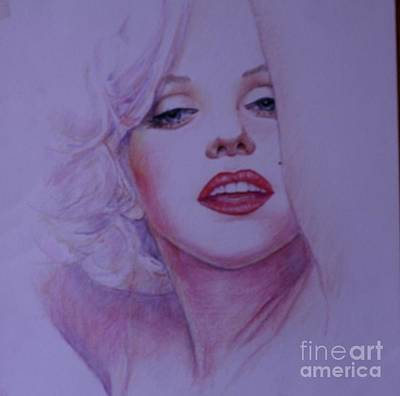 Drawing - Marilyn Portrait 2 by Pamela Mccabe