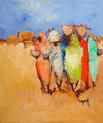 Painting - Market Day by Negoud Dahab