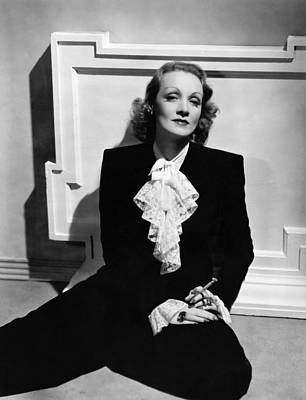 Pant Suit Photograph - Marlene Dietrich, Ca. Early 1940s by Everett