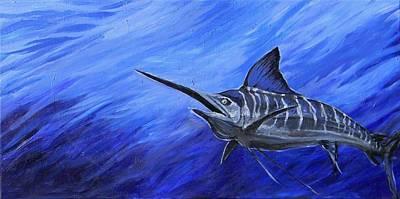 Marlin Art Print by Jenn Cunningham