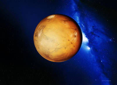 Tharsis Photograph - Mars by Detlev Van Ravenswaay