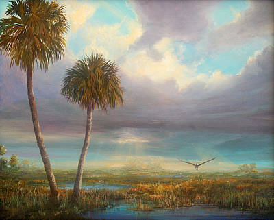 Art Print featuring the painting Marsh Launch by AnnaJo Vahle