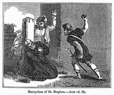 Martyrdom Of St. Stephen Art Print by Granger