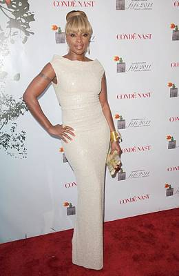 Evening Gown Photograph - Mary J Blige At Arrivals For 2011 by Everett