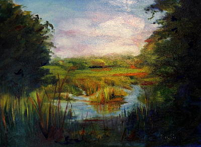 Painting - Maryland Marsh by Rosemarie Hakim