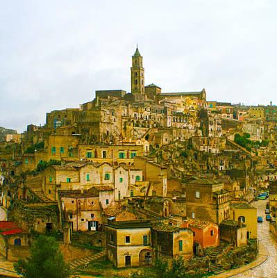 Basilicata Photograph - Matera Cityscape by Rob Tullis
