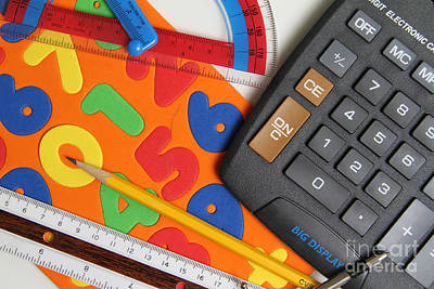 Mathematics Tools Print by Photo Researchers Inc